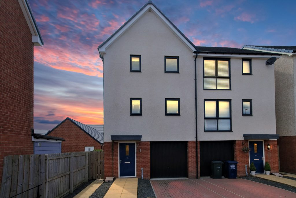 3 Bedroom Town House for Sale 'The Chillingham' on Wagonway Drive, Newcastle Great Park